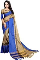 PERFECTBLUE Cotton Silk Saree With Blouse Piece (Off-Whitetaampl_Off White_Free Size)