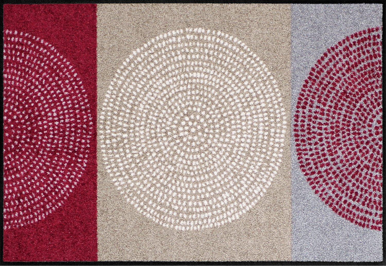 Salonloewe Fußmatte rot Größe 115x175 cm