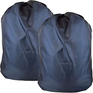 "Heavy Duty Nylon Laundry Storage Bags with Drawstring, Durable, Machine Washable 30' x 40"" Choose The Color Double Navy"