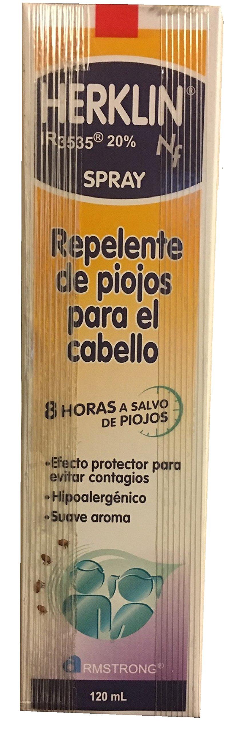 Herklin Repelente de piojos para el cabello/ Lice Repelent Spray