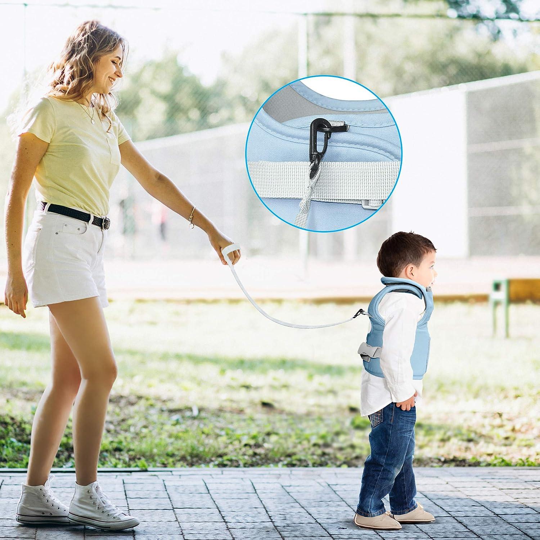 harnais anti-chute pour enfant redinelles pour b/éb/é bretelles pour apprendre /à marcher cadeau laisse de s/écurit/é cadeaux pour b/éb/é maman ou papa bleu ciel Redini Premiers pas pour enfants