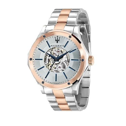 MASERATI Reloj Analógico para Hombre de Automático con Correa en Acero Inoxidable R8823127001: Maserati: Amazon.es: Relojes