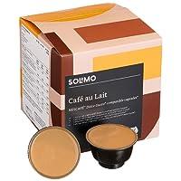 Marchio Amazon- Solimo Capsule Cafè Au Lait, compatibili Dolce Gusto- caffè certificato UTZ- 96 capsule (6 x 16)
