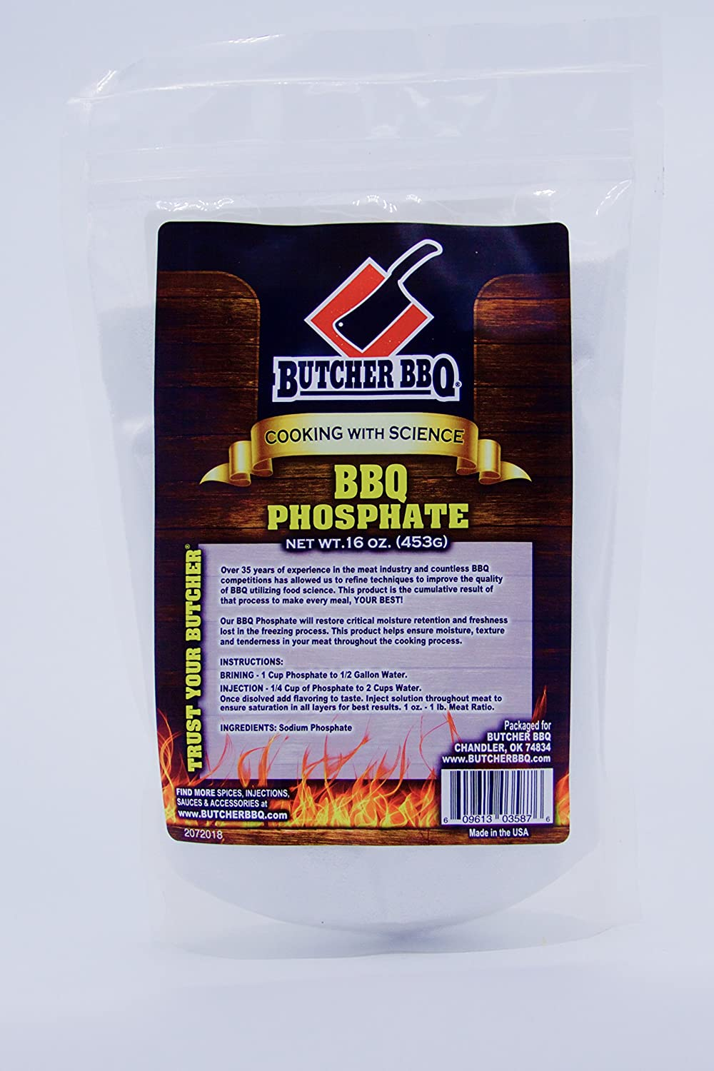 BUTCHER BBQ Phosphate Barbeque Seasoning Gluten Free | Msg Free1 Pound