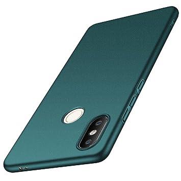 anccer Funda Xiaomi Mi 8 SE [Serie Colorida] [Ultra-Delgado] [Ligera] Anti-rasguños Estuche para Carcasa Xiaomi Mi 8 SE (Grava Verde)