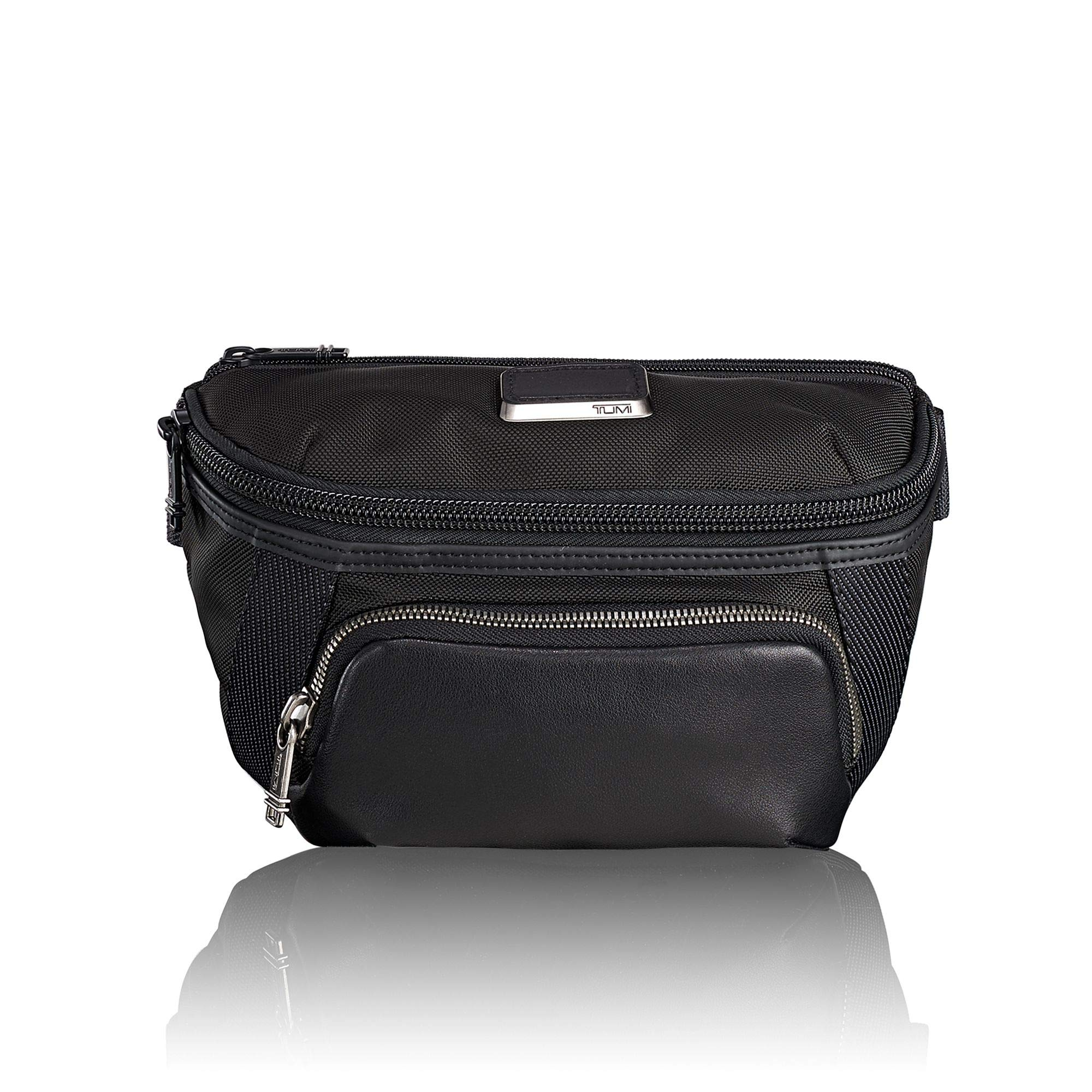 TUMI - Alpha Bravo Columbus Utility Pouch Waist Pack - Crossbody Bags for Men and Women - Black