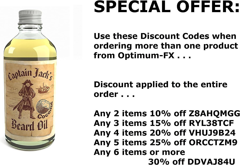 Captain Jacks Beard Oil Acondicionador en Aceite Para la Barba Captain Jack 100ml Edición Limitada Coco (Coconut)