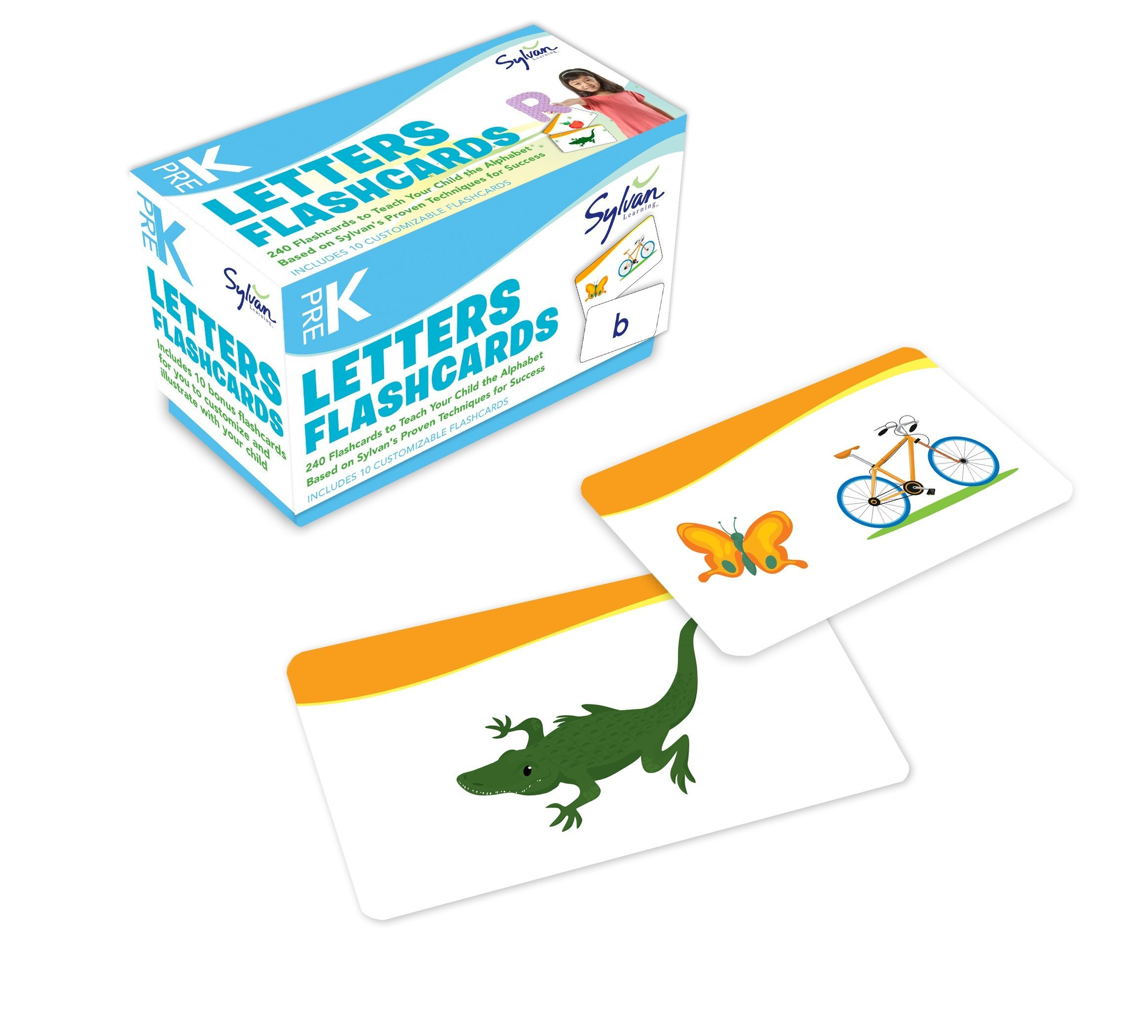 Pre-K Letters Flashcards: 240 Flashcards for Building Better Letter Skills Based on Sylvan's Proven Techniques for Success (Sylvan Language Arts Flashcards) by Brand: Sylvan Learning Publishing
