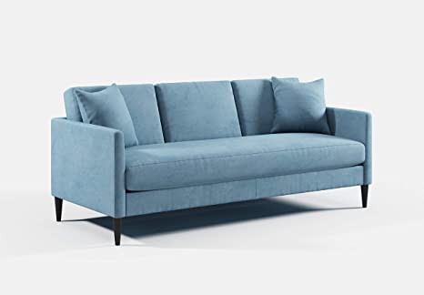 Amazon Com The Liz Jordan Hill Featuring 3 Seat Couch Mid Century Sofas And Couches Modern Velvet Fabric Waterproof Seat Cushion Home Decor Fabrics Upholstery Designer Sofa Seaside Kitchen Dining