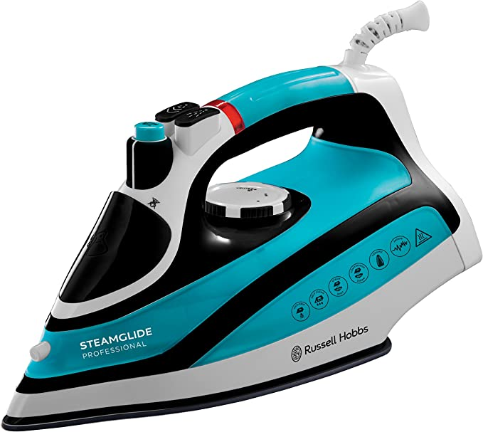 Russell Hobbs 21370 Steam Glide Professional Steam Iron, 2600 W, 0.3 Litre, Blue