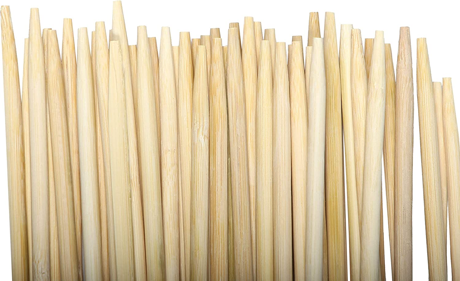 "FIREPIT STIX 50 PCS | Bamboo Marshmallow ROASTING STICKS | 36"" Long 5""mm Thick Extra Long Heavy Duty 