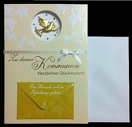 Tarjeta de felicitación a tu Comunión TARJETA Dinero regalo ...