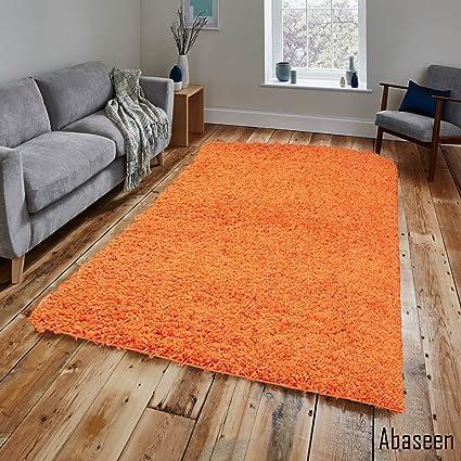 Abaseen Tappeto Shaggy Arancione 120 x 170 cm Dimensioni 1,2 ...