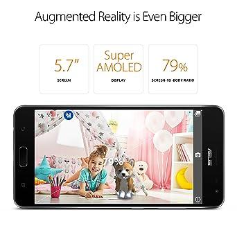Asus Zenfone Ar 57 Inch Wqhd Amoled 6gb Ram 64gb Storage Lte Unlocked Dual Sim Cell Phone Us Warranty Zs571kl S821 6g64g Bk