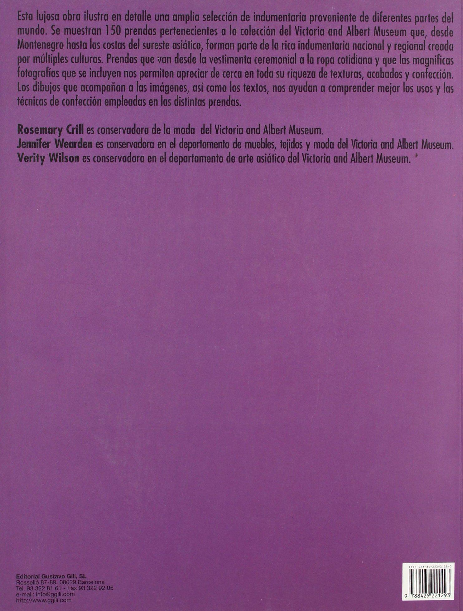 La indumentaria tradicional en detalle (GGmoda): Amazon.es: Rosemary Crill, Jennifer Wearden, Verity Wilson: Libros