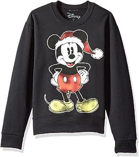 disney big girls mickey xmas mouse christmas crew fleece pullover - Mickey Mouse Christmas Sweater