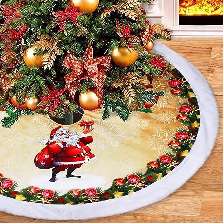 Faldas para el árbol Paño Cepillado Navidad para Decoraciones ...