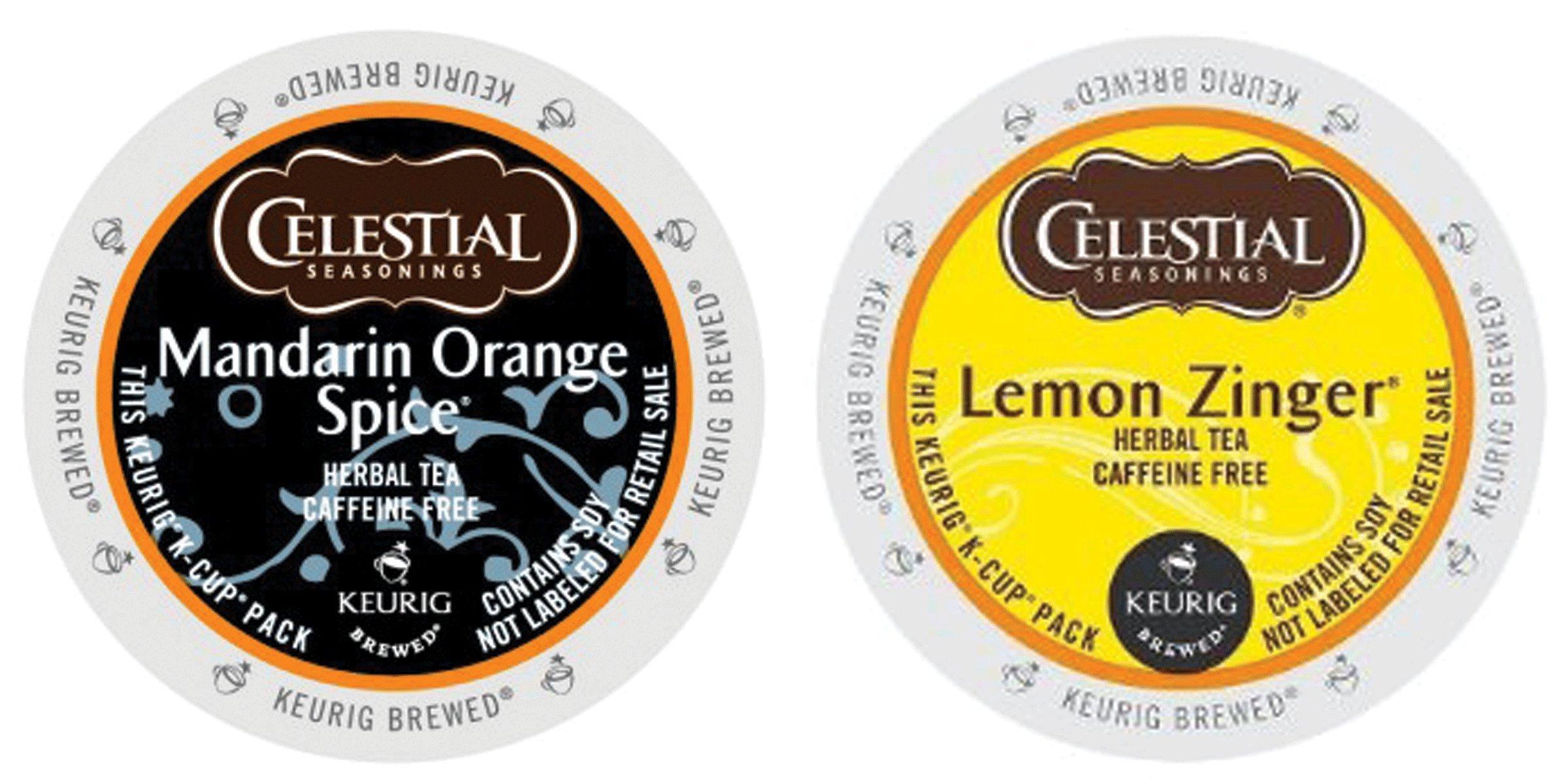 CDM product Celestial Seasonings - Mandarin Orange Spice & Lemon Zinger K-cup Combo Pack for Keurig 2.0 - 48 Count/24 Per Box big image