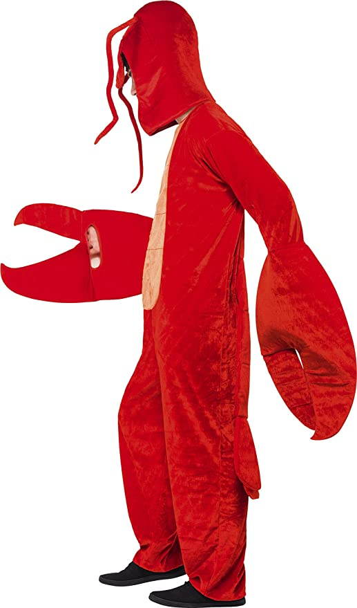 Amazon.com Smiffyu0027s Adult Unisex Lobster Costume All in One and Hood Party Animals Serious Fun One Size 40091 Clothing  sc 1 st  Amazon.com & Amazon.com: Smiffyu0027s Adult Unisex Lobster Costume All in One and ...