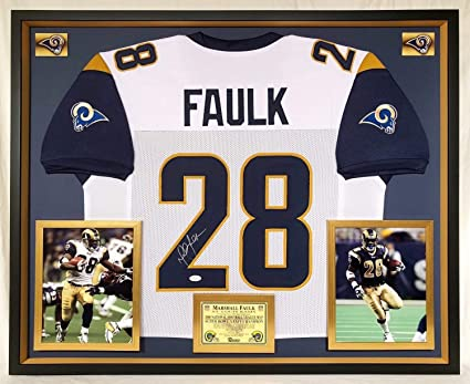 detailing 001a9 5b51c Deluxe Framed Marshall Faulk Autographed Signed St Louis ...