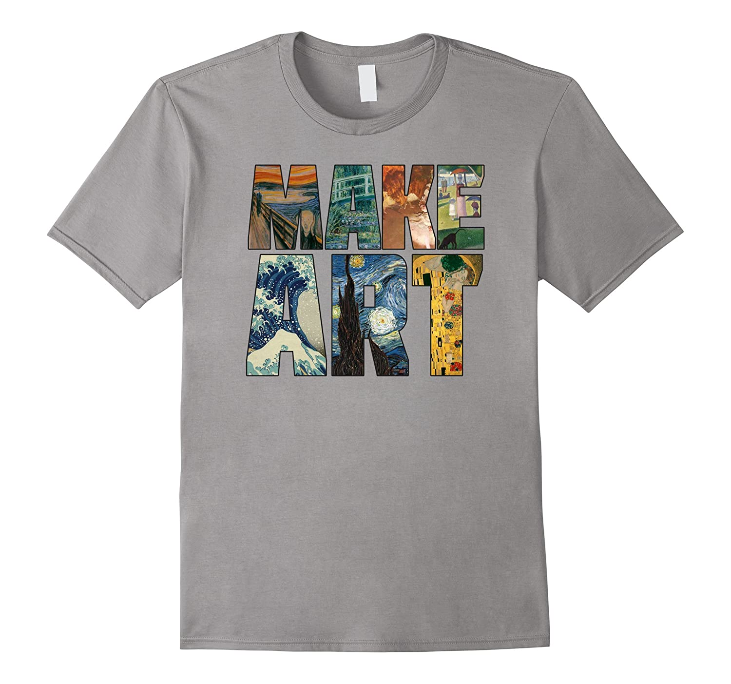MAKE ART | Funny Artist Artistic Humor Painting Cool T-shirt-BN