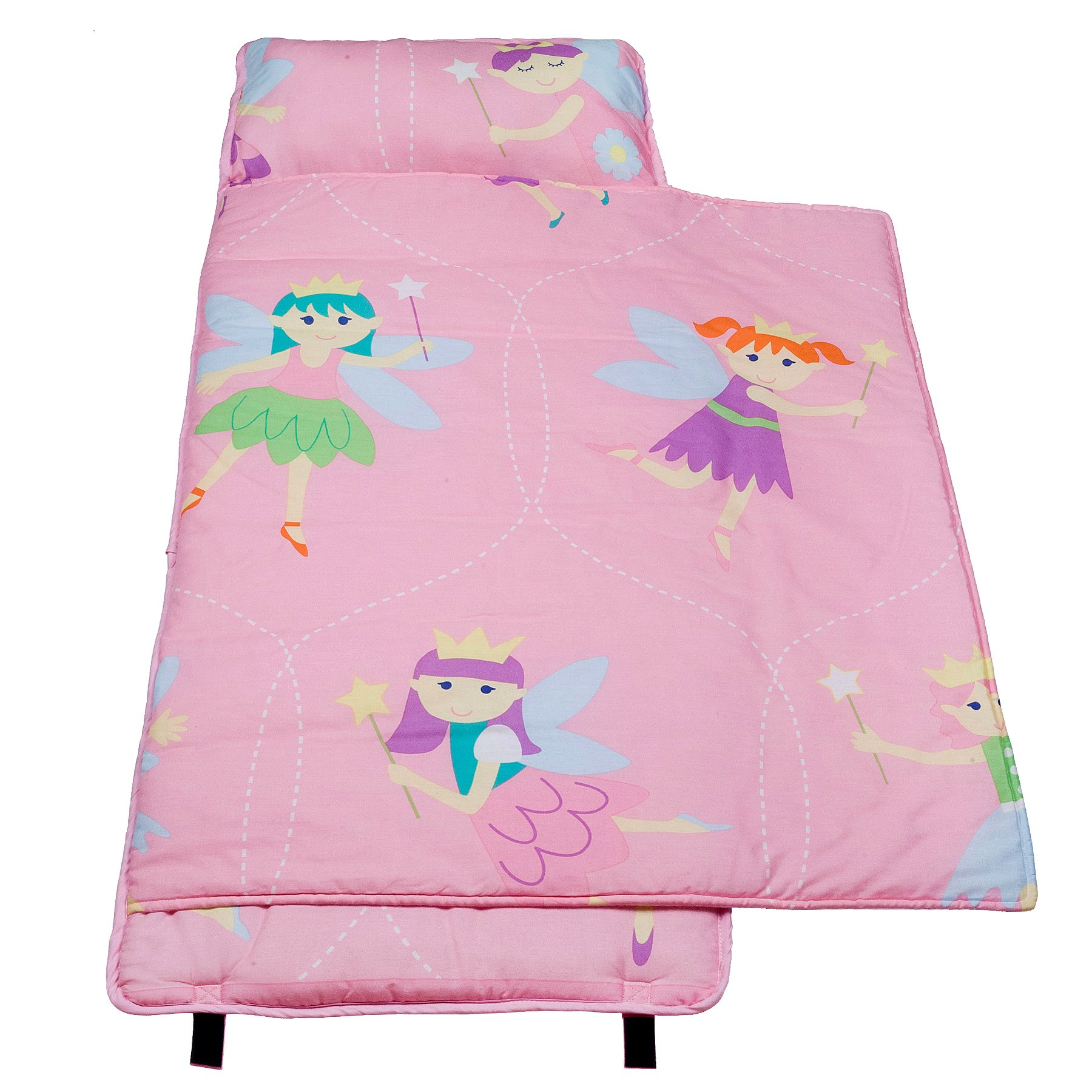 Wildkin 100% Cotton Nap Mat, Olive Kids by Children's Cotton Nap Mat with Built in Blanket and Pillowcase, Pillow Insert Included, 100% Cotton, Children Ages 3-7 years – Fairy Princess