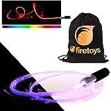 fiberflies pixelwhip V4. mit toller LED-Faser LWL-Glow Prop + Firetoys® Tasche. Ideal für Raves, Partys und Festivals.