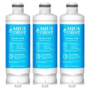 AQUACREST Replacement DA97-17376B Refrigerator Water Filter, Compatible with Samsung DA97-17376B DA97-08006C HAF-QIN HAF-QIN/EXP(Pack of 3)