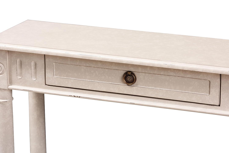 Baxton Studio 147-424-8188-AMZ Canina Console Table Whitewash Wholesale Interiors