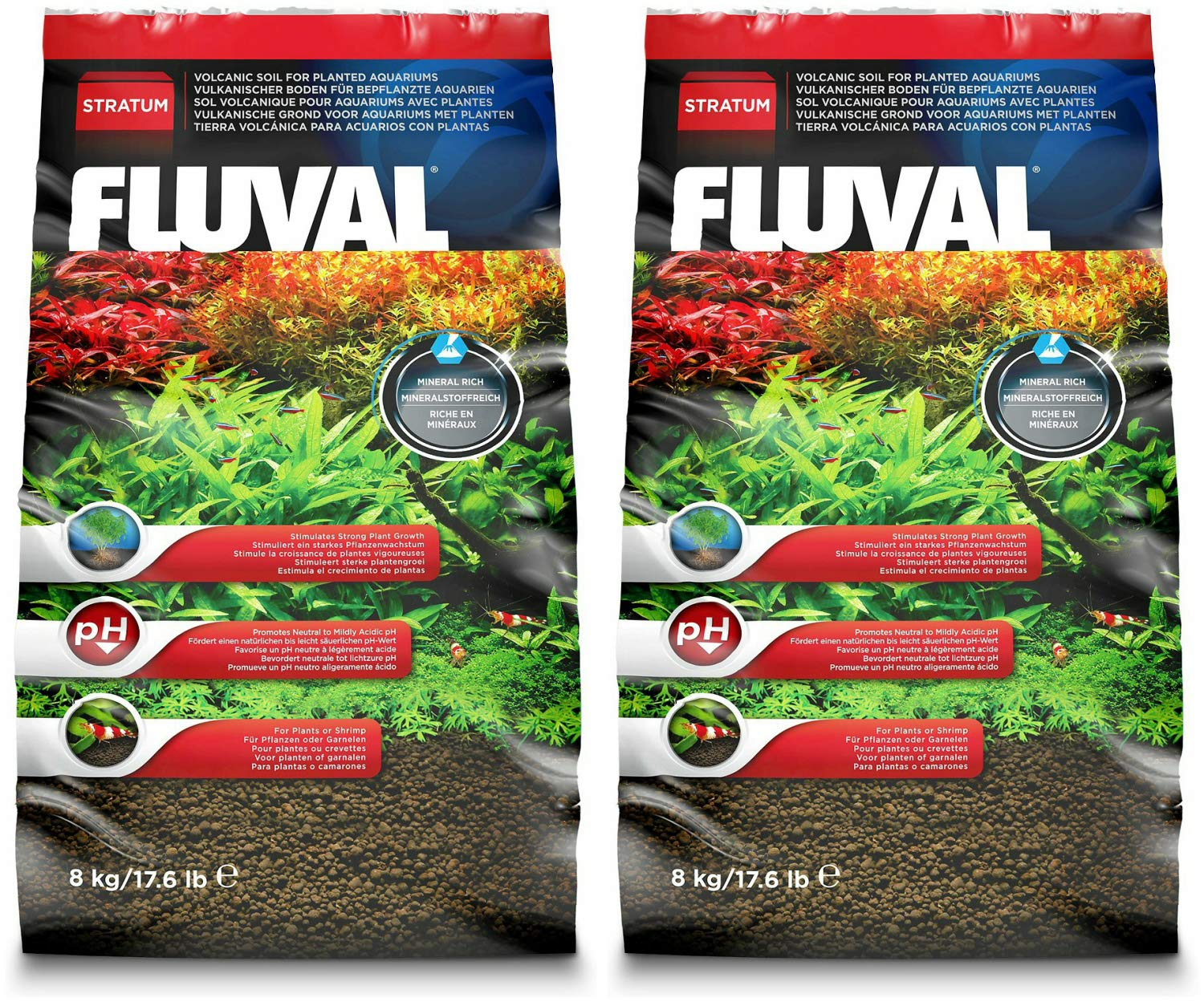 Amazon.com : Fluval Plant and Shrimp Stratum 35.2lb (2x17.6lb) : Pet Supplies