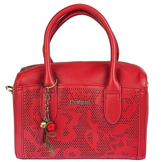Handtasche Schultertasche Bowling Bag Tasche BOLS BOWEN HOLEWOOD 71X9EW5, Farbe:Rot Desigual