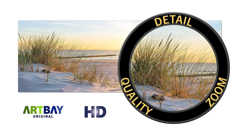 118,8 x 42 cm Panorama Photo ARTBAY Poster de la mer HD XXL Dunes Poster de Nature |/Qualit/é sup/érieure Lever de Soleil sur la Plage