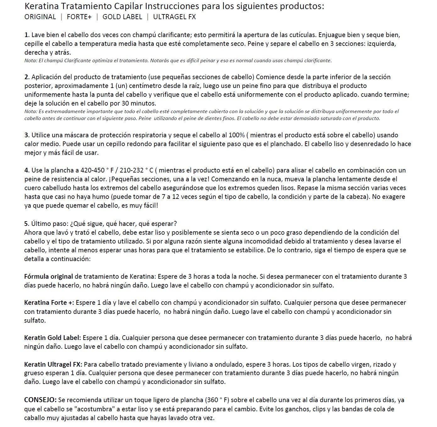 Amazon.com : Tratamiento de Keratina Brasilera Profesional. Alisa y Suaviza el Cabello. Set de 4 Botellas por 300 ml kit que incluye Champú y Acondicionador ...