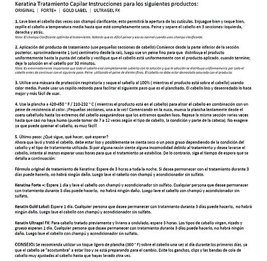 Amazon.com : Tratamiento de Keratina Brasilera por 120ml, Profesional Complex Blowout, Con Aceite de Argán, Formula y Fragancia Mejorada Keratin Research : ...