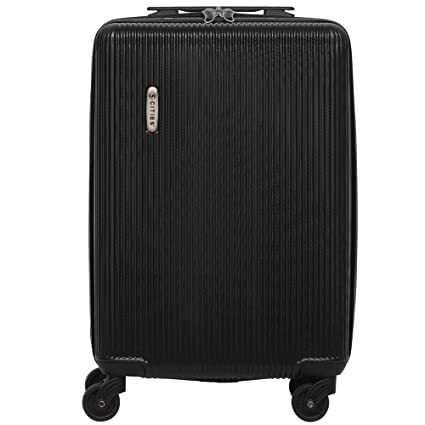 d532a827f 5 Cities Lightweight ABS Hard Shell Carry On Cabin Hand Luggage Suitcase  with 4 Wheels,