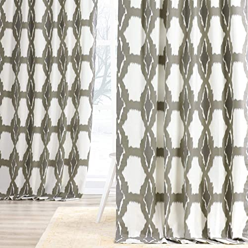 HPD Half Price Drapes PRTW-D22-120 Printed Cotton Curtain 1 Panel