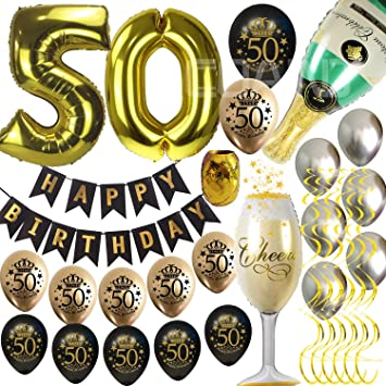 50th Birthday Decorations For Men Women Supplies Favors Party Balloons