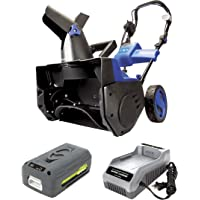 Snow Joe iON18SB-HYB 40-Volt iONMAX Hybrid Brushless Single Stage Snowblower Kit | 18-Inch | W/ 4.0-Ah Battery and…