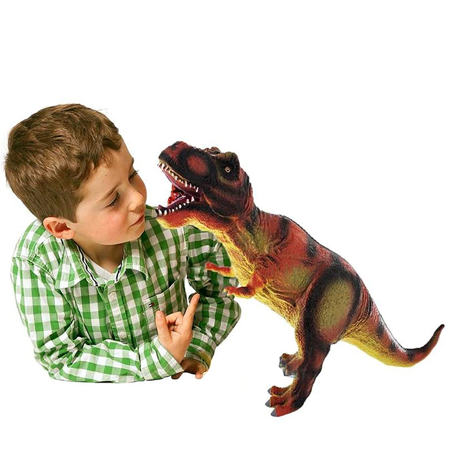14 inch T-Rex Large Soft Foam Rubber Stuffed Dinosaur Toy Action Play Figure The Magic Toy Shop