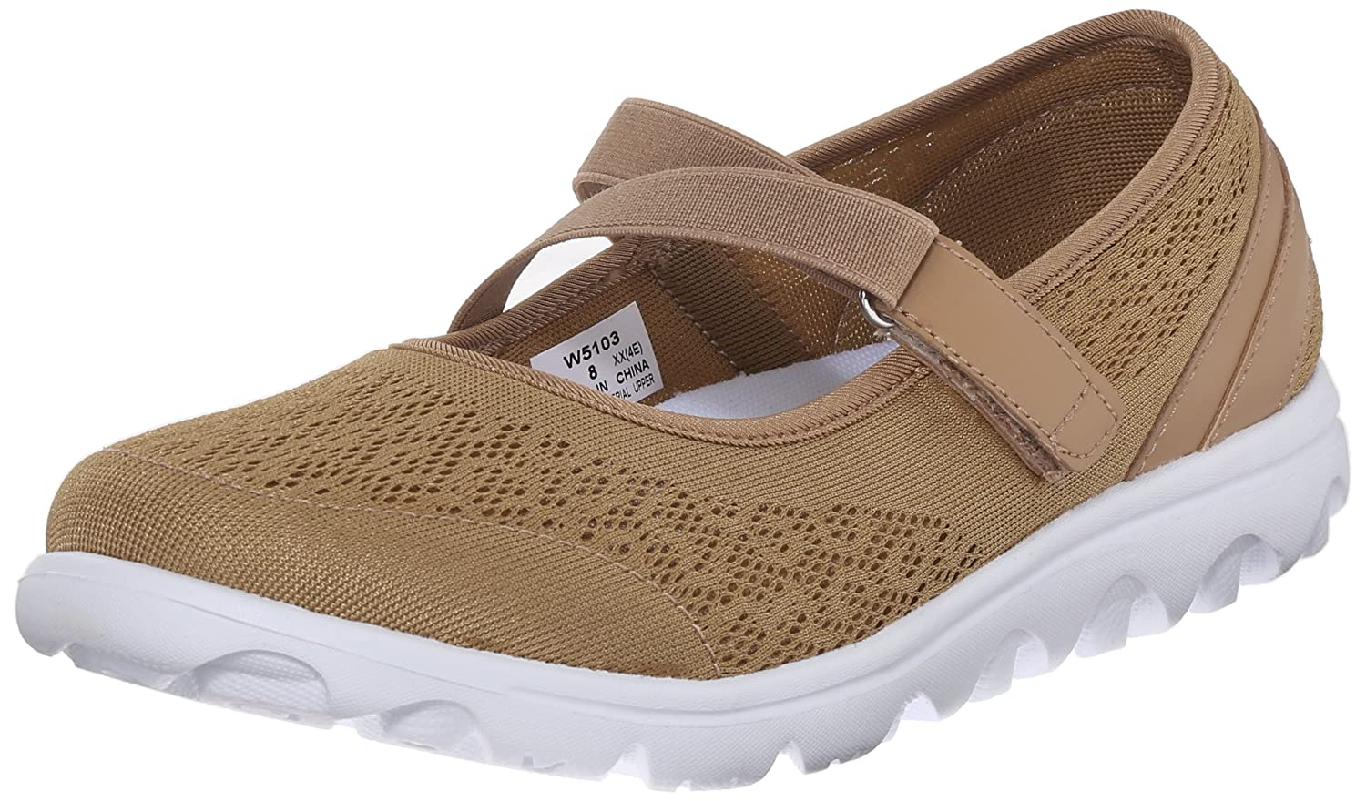 Propet Women's TravelActiv Mary Jane Fashion Sneaker B0118FL6I0 7.5 B(M) US|Honey