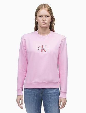 Calvin Klein Sudadera Monogram Flock Rosa Mujer L Rosa: Amazon.es: Ropa y accesorios