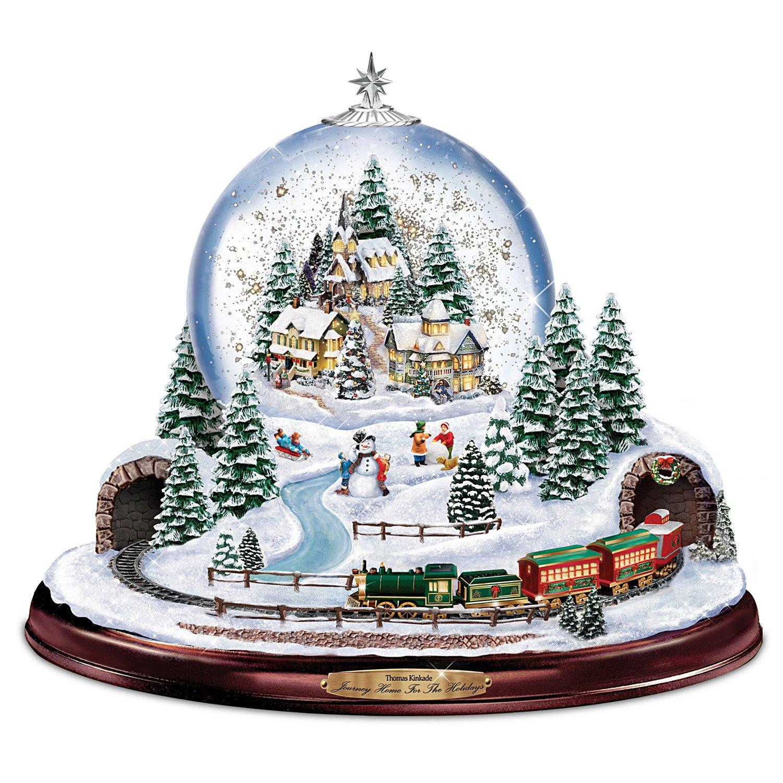 Amazon.com: Thomas Kinkade Home for the Holidays Snowglobe: Lights ...