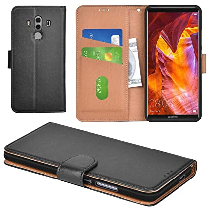 3383aa8998 Aicoco Huawei Mate 10 Pro Case Flip Cover Leather Wallet Phone Case for  Huawei Mate 10 Pro - Black