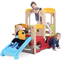 Simplay3 Young Explorers Adventure Climber - Indoor Outdoor Crawl Climb Drive Slide, Year-Round Playset for Children