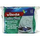 Vileda Pack of 2 Active Wave Foam Back Scourer