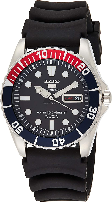 Seiko SNZF15J2 5 Sports Divers - Reloj automático con correa de goma