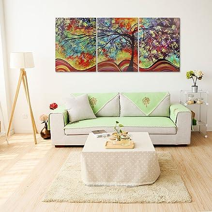 Raybre Art® 3pcs Stampe su Tela Paesaggio Albero Vita Pitture a ...