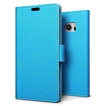 Funda LG K10,SLEO Cartera Carcasa Piel PU Suave Flip Folio Caja Super Delgado [Estilo Libro,Soporte Plegable y Cierre Magnético] para LG K10 - Azul