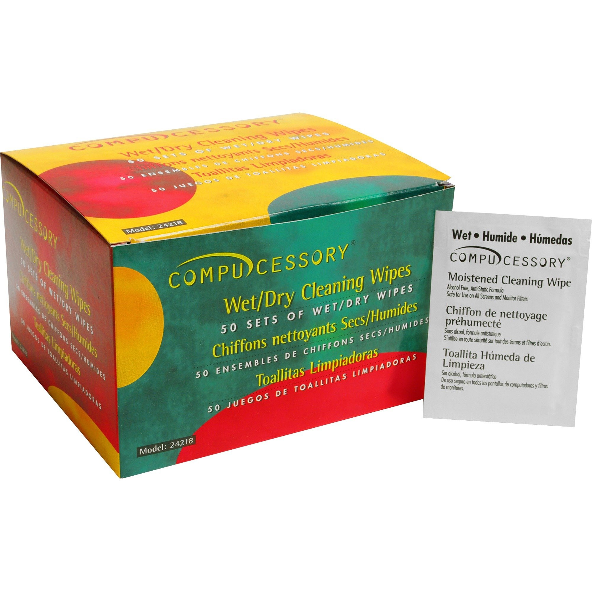 Compucessory Wet & Dry Cleaning Wipes (CCS24218)