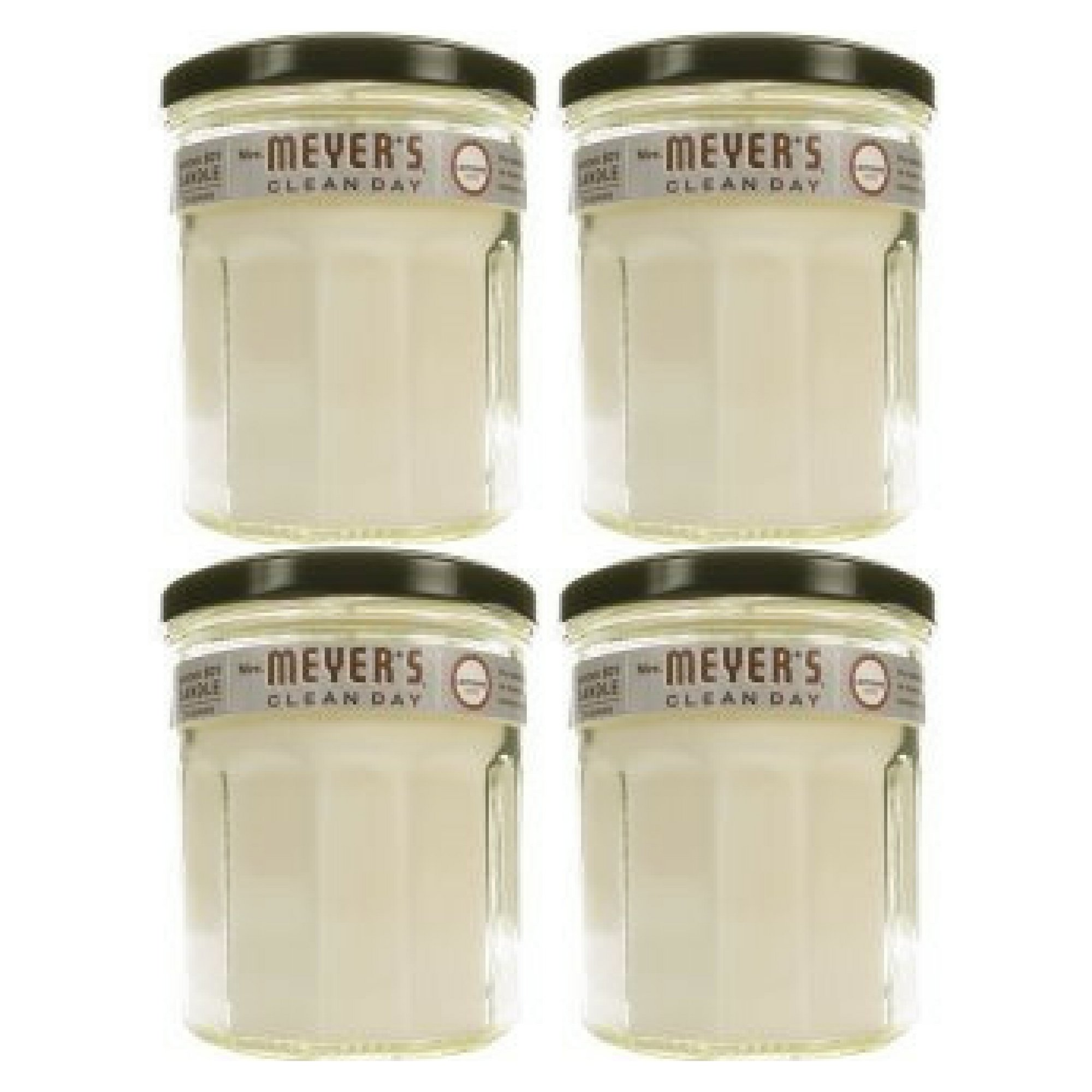 Mrs. Meyer's Clean Day Soy Candle Lavender Scented Large 7.2 Ounces - 4 count